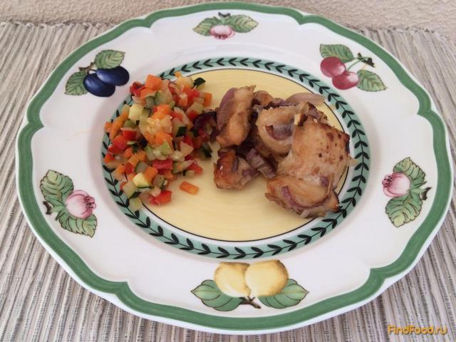 Куриные грудки в соусе медово соевом соусе