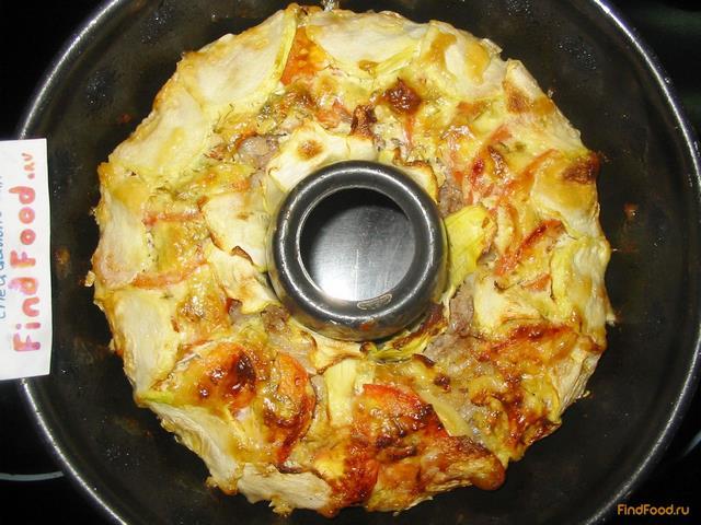 Мясной пирог с кабачками - фото 17 шага