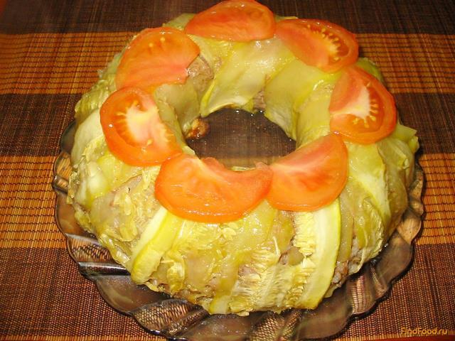 Мясной пирог с кабачками - фото 18 шага