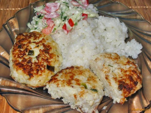 рыбные котлеты из минтая с рисом рецепт