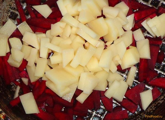 Рецепт картошка со свеклой рецепт