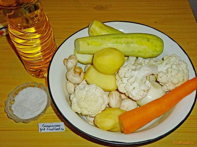 овощное рагу с грибами и кабачками рецепт с фото