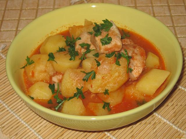 рагу с картошкой и кабачками и курицей в мультиварке рецепт