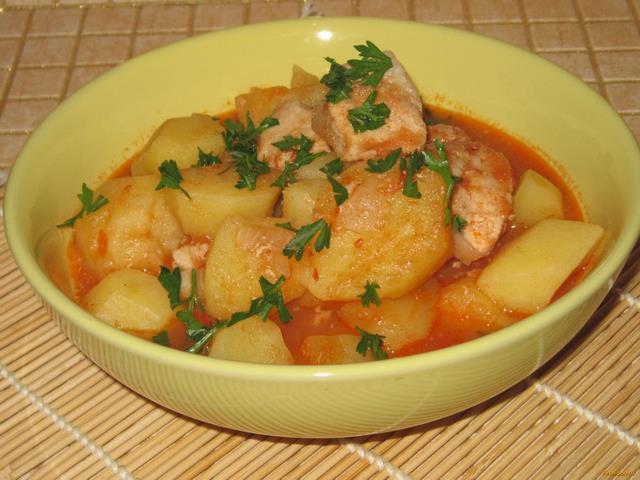 рецепт соус из свинины с картошкой