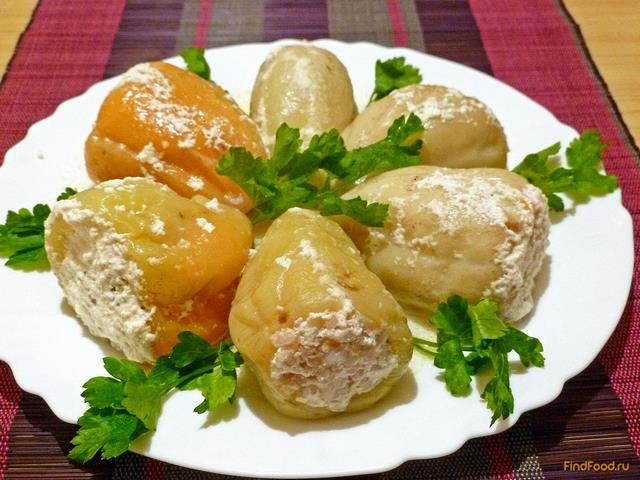 Фаршированный перец в сметане в духовке рецепт