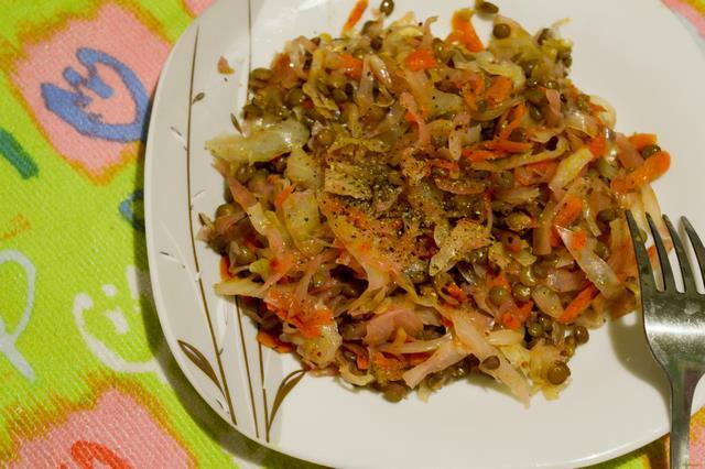 Блюда из чечевицы с капустой