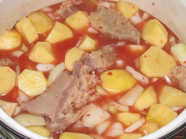 Овощи тушеные с говядиной рецепт с пошагово