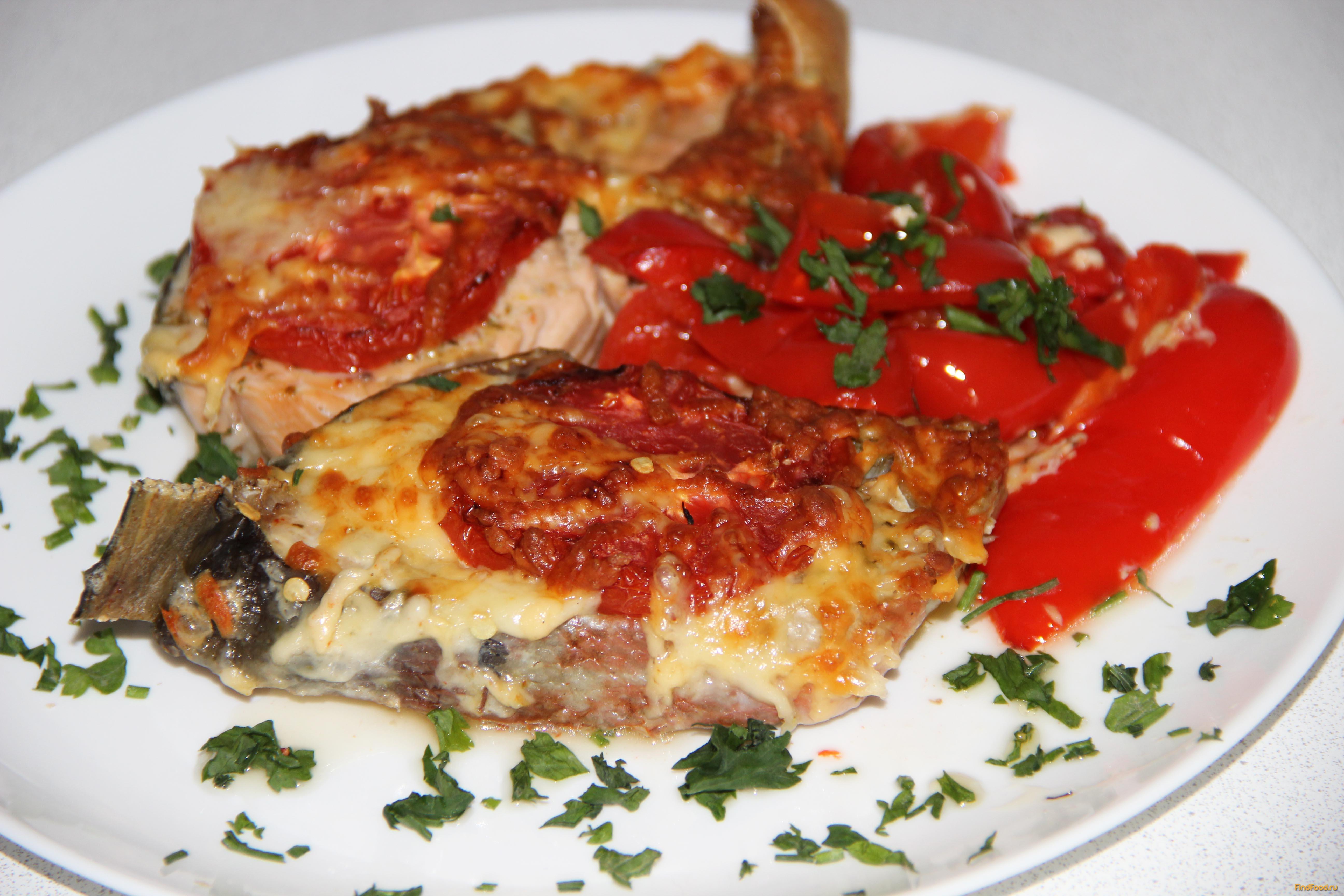 Стейк из рыбы с картошкой в духовке рецепт пошагово