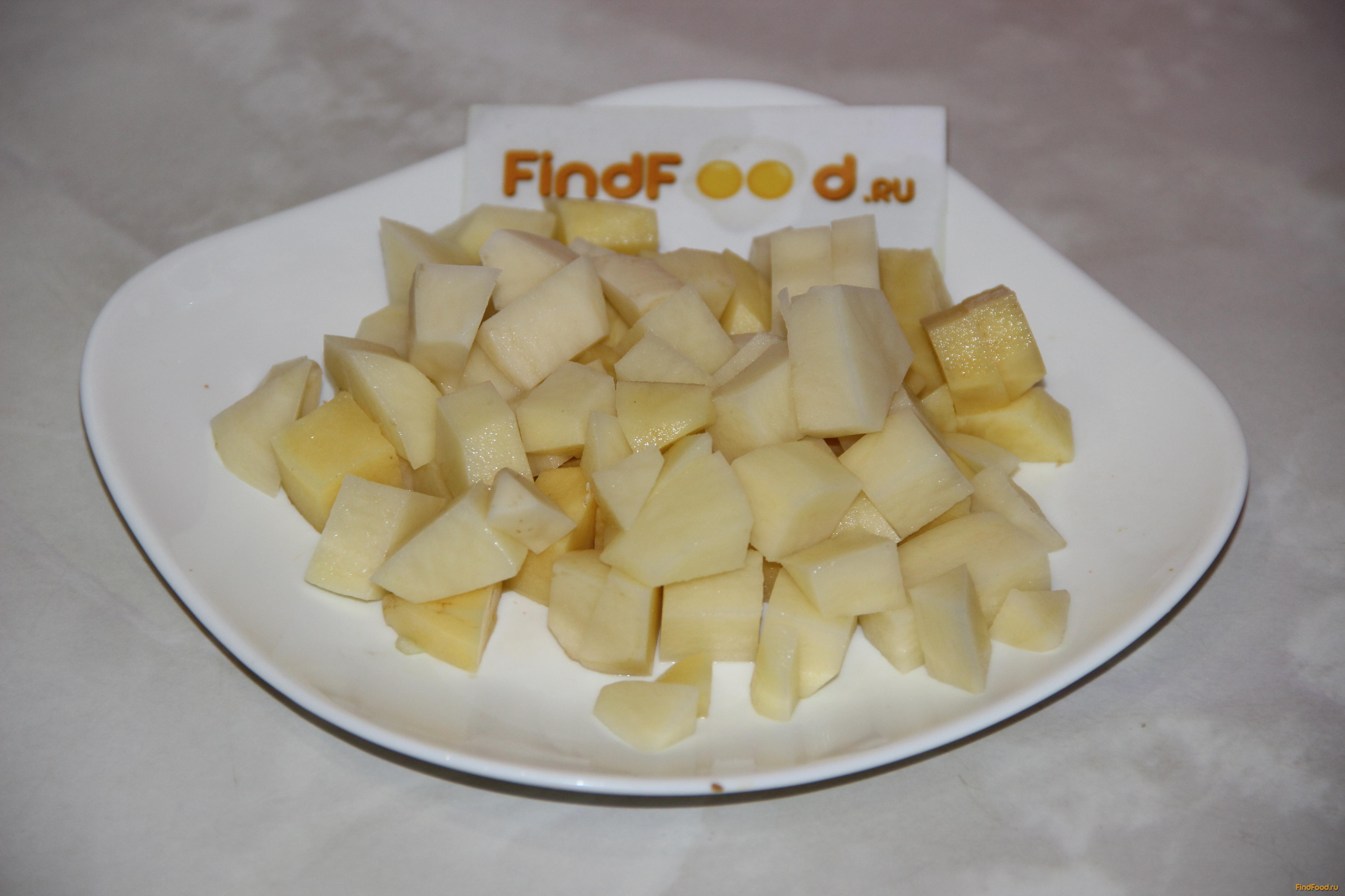 Картошка тушеная с печенью свиной