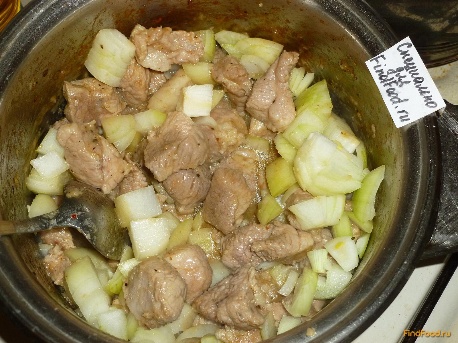Тушеная свинина рецепт пошагово в