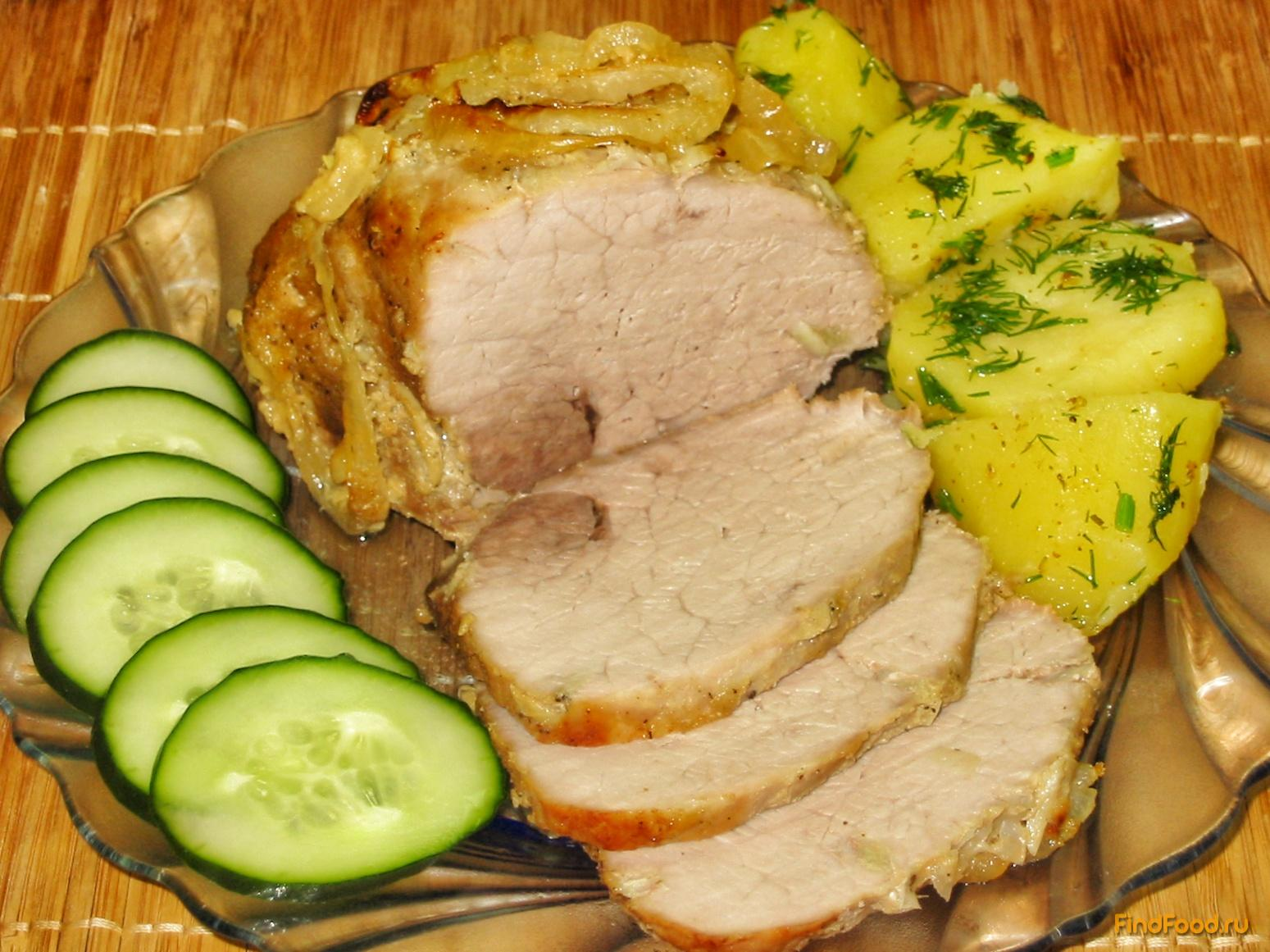 запечь окорок свиной в духовке в фольге рецепт