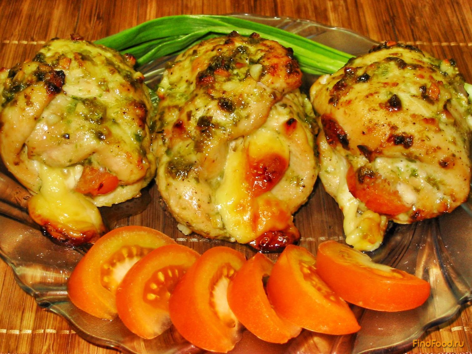 фаршированная куриная грудка рецепты с фото в духовке