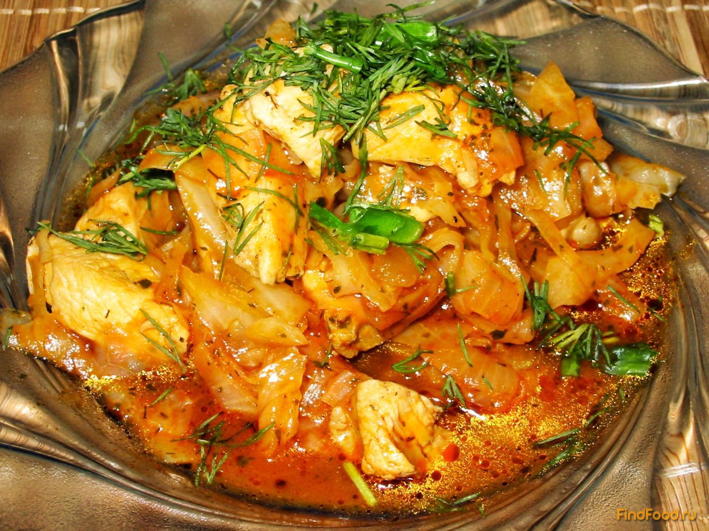солянка из капусты с курицей