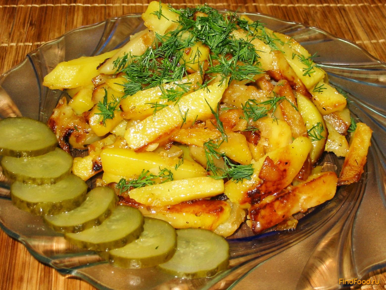 рецепт жареной картошки с