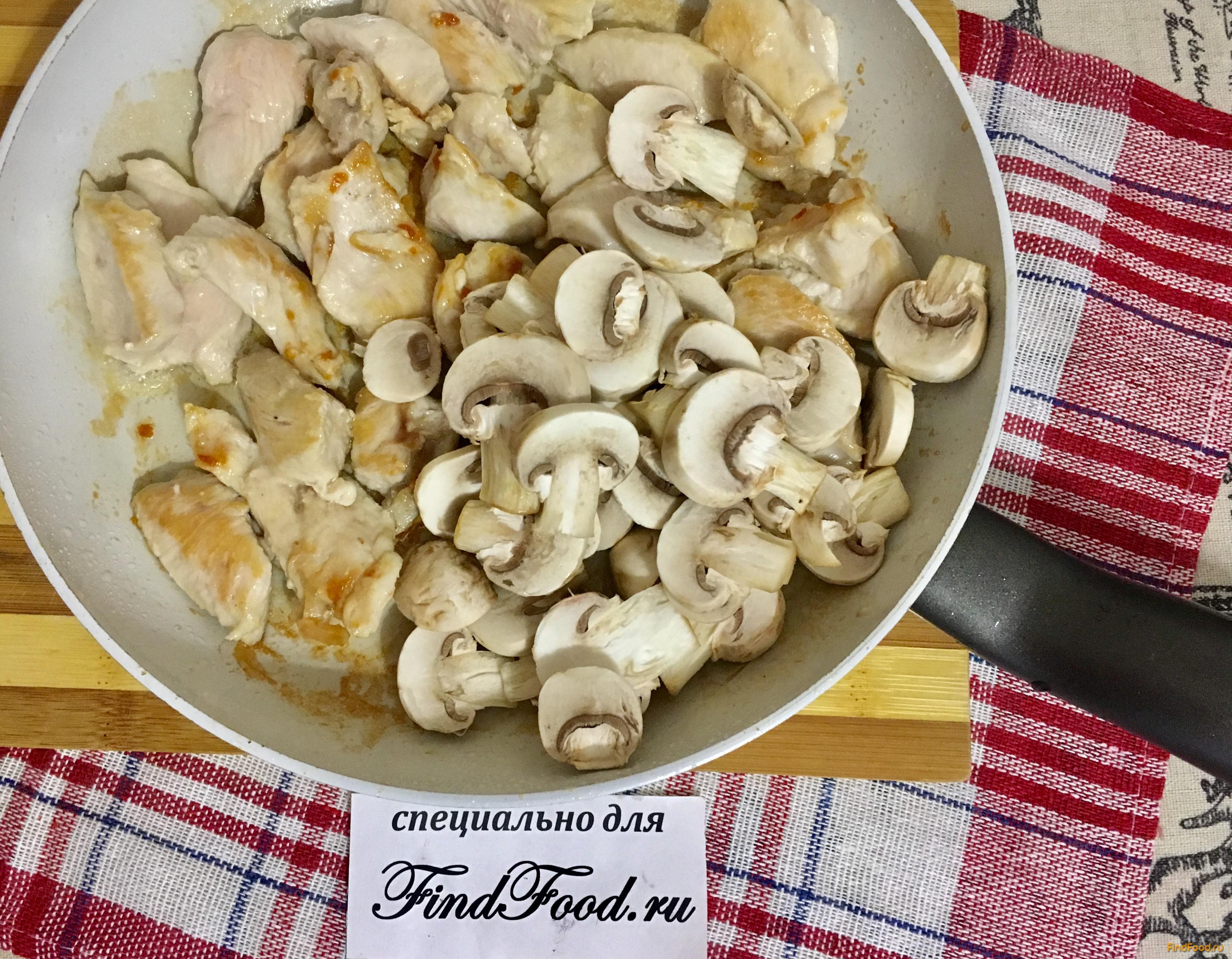 Паста с курицей в сметанном соусе рецепт