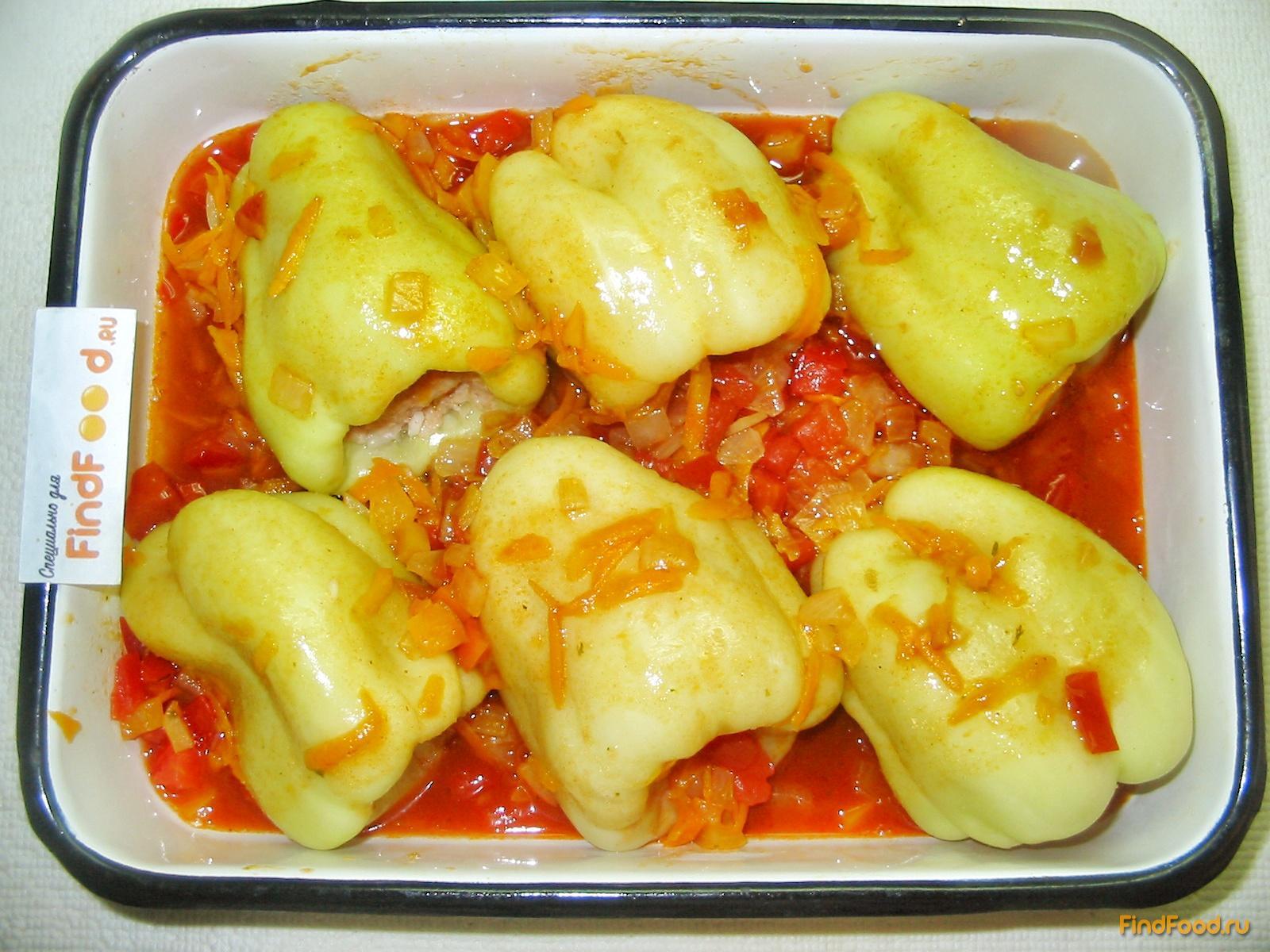 Фаршированные перцы с подливкой в духовке пошаговый рецепт