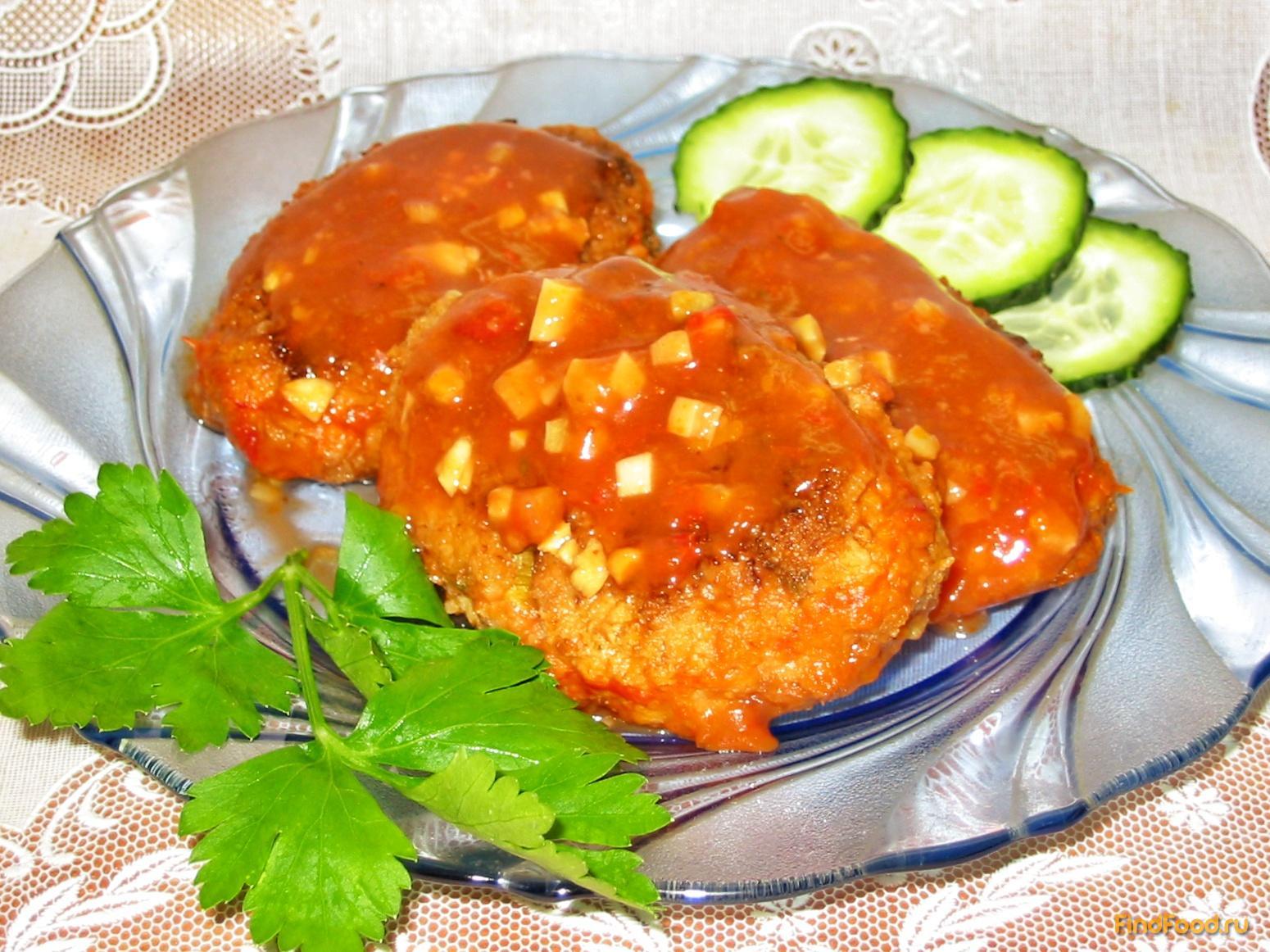 Котлеты в томатном соусе рецепт
