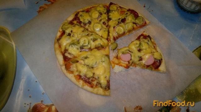 Мясная пицца рецепт с фото пошагово