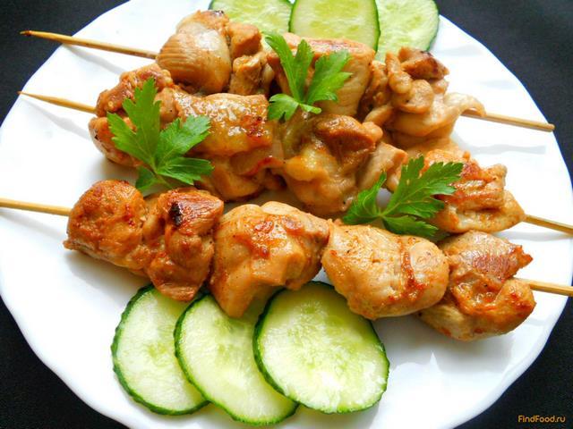 Шашлык из курицы на сковороде рецепт с