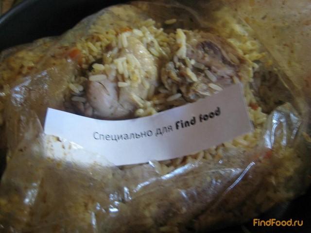 Рис с курицей в рукаве рецепт с фото 5-го шага