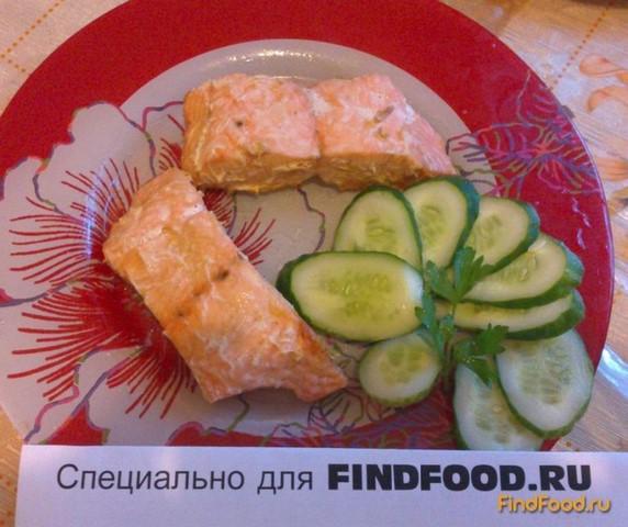 лосось в фольге духовке рецепт с фото