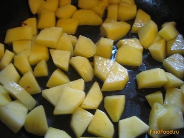 Жаркое из печени с картофелем рецепт с фото 4-го шага