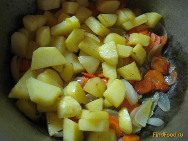 Жаркое из печени с картофелем рецепт с фото 5-го шага