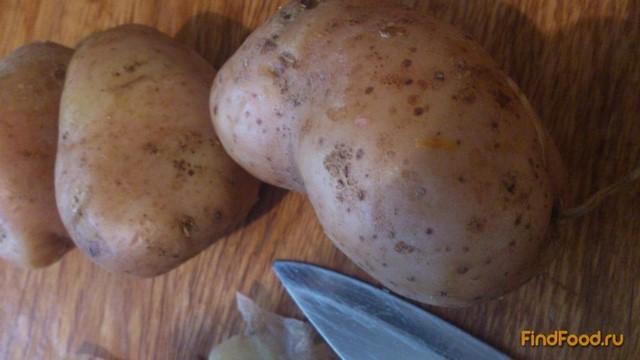 Картошка в мундирах жареная рецепт с фото 1-го шага