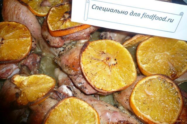 рецепт куриных окорочков в духовке с апельсинами