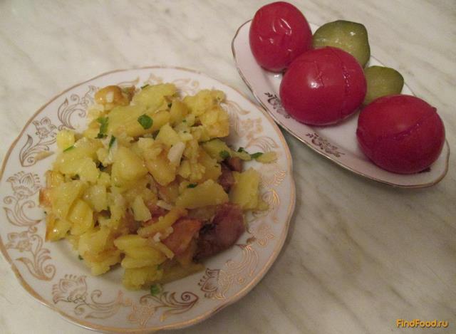 сколько калорий в жареной на сале картошке