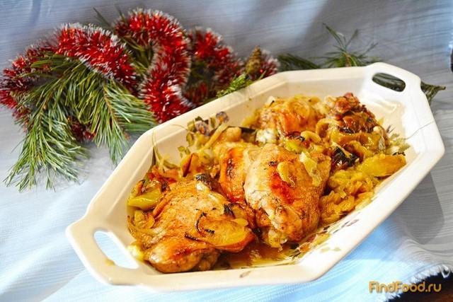 Куриные бедра с яблоком в рукаве рецепт с фото 6-го шага