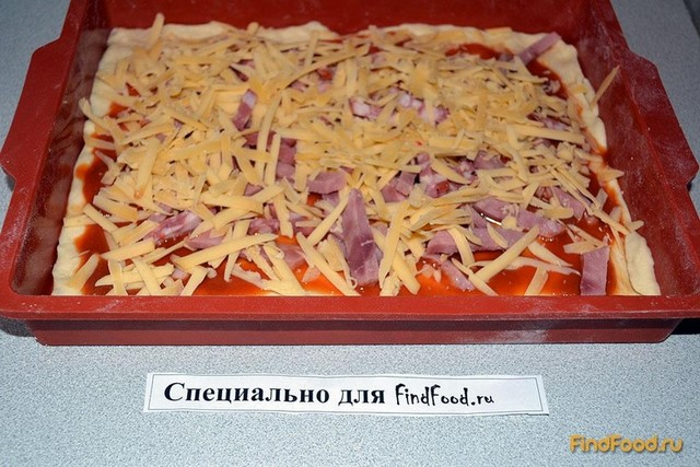 Пицца на сдобном тесте рецепт