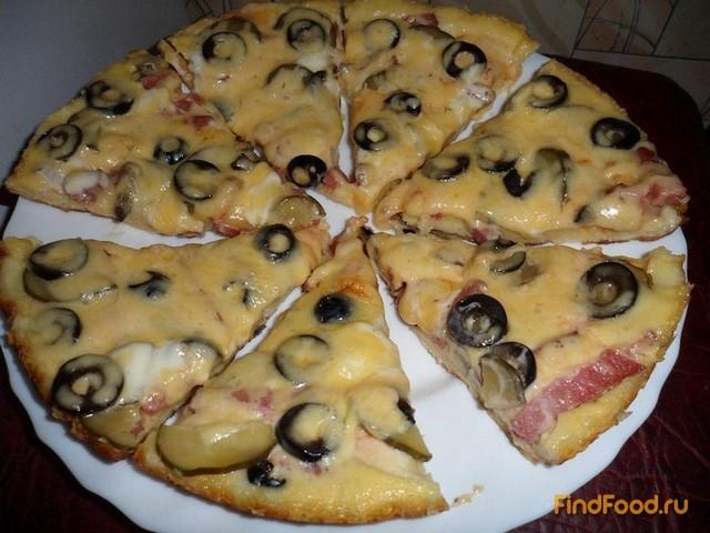 пицца в сковороде рецепт с фото