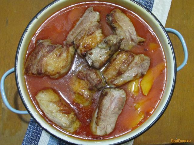 Тушеная картошка с ребрышками в мультиварке рецепт с фото