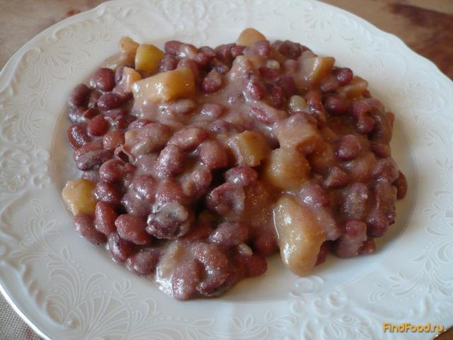 Рецепт Фасоль тушеная с картошкой в сметане рецепт с фото