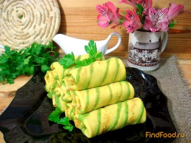 Рецепт Блинчики полосатики с капустой рецепт с фото