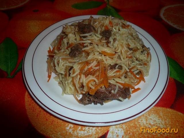 Рецепт Жареная вермишель с тушёнкой рецепт с фото