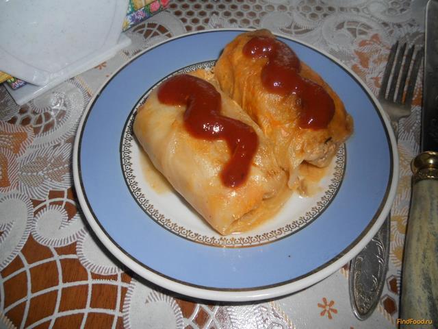 Рецепт Голубцы в томатно-сметанном соусе рецепт с фото