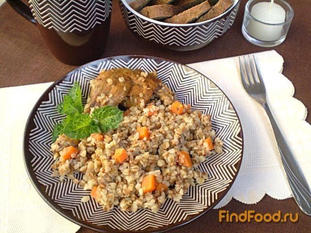 Рецепт Каша гречневая с мясом утки рецепт с фото
