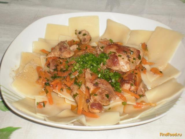 Рецепт Бешбармачная лапша с мясом рецепт с фото
