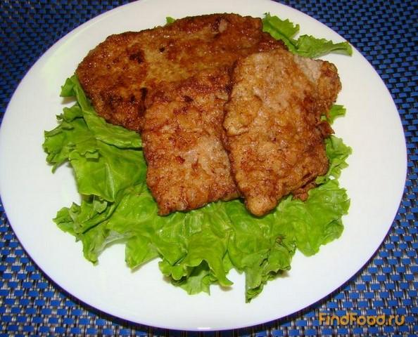 Рецепт Говяжий шницель в маринаде из картофельного крахмала рецепт с фото