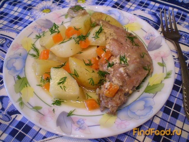 Рецепт Уточка со сливками и молодым картофелем рецепт с фото