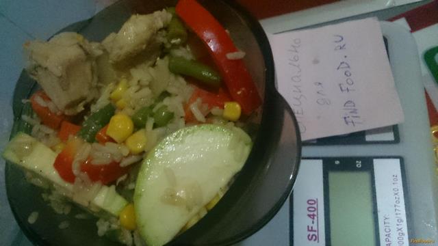 Рецепт Диетические овощи с курицей и рисом рецепт с фото