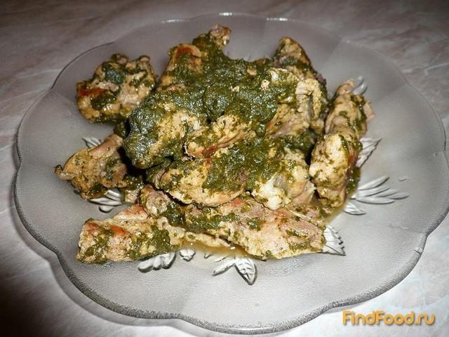 Рецепт Свиное рагу со шпинатом рецепт с фото