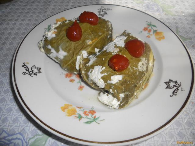 Рецепт Голубцы в листьях ревеня рецепт с фото