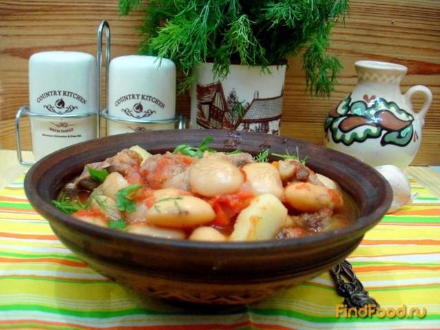 Свинина с фасолью и шпинатом рецепт  с фото пошаговый