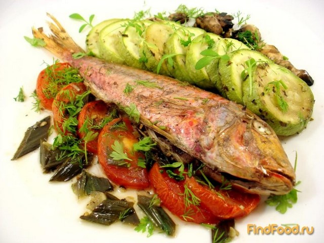 Рецепт Барабулька с овощами рецепт с фото