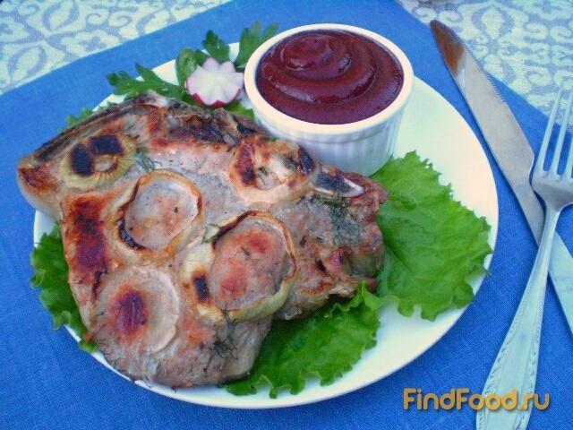 Рецепт Стейк из свинины на углях рецепт с фото