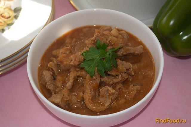 Рецепт Говядина тушеная с томатом и фасолью рецепт с фото
