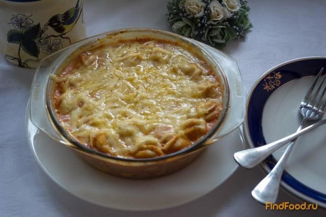 Рецепт Запеченые пельмени в томатно - сметанном соусе с сыром рецепт с фото